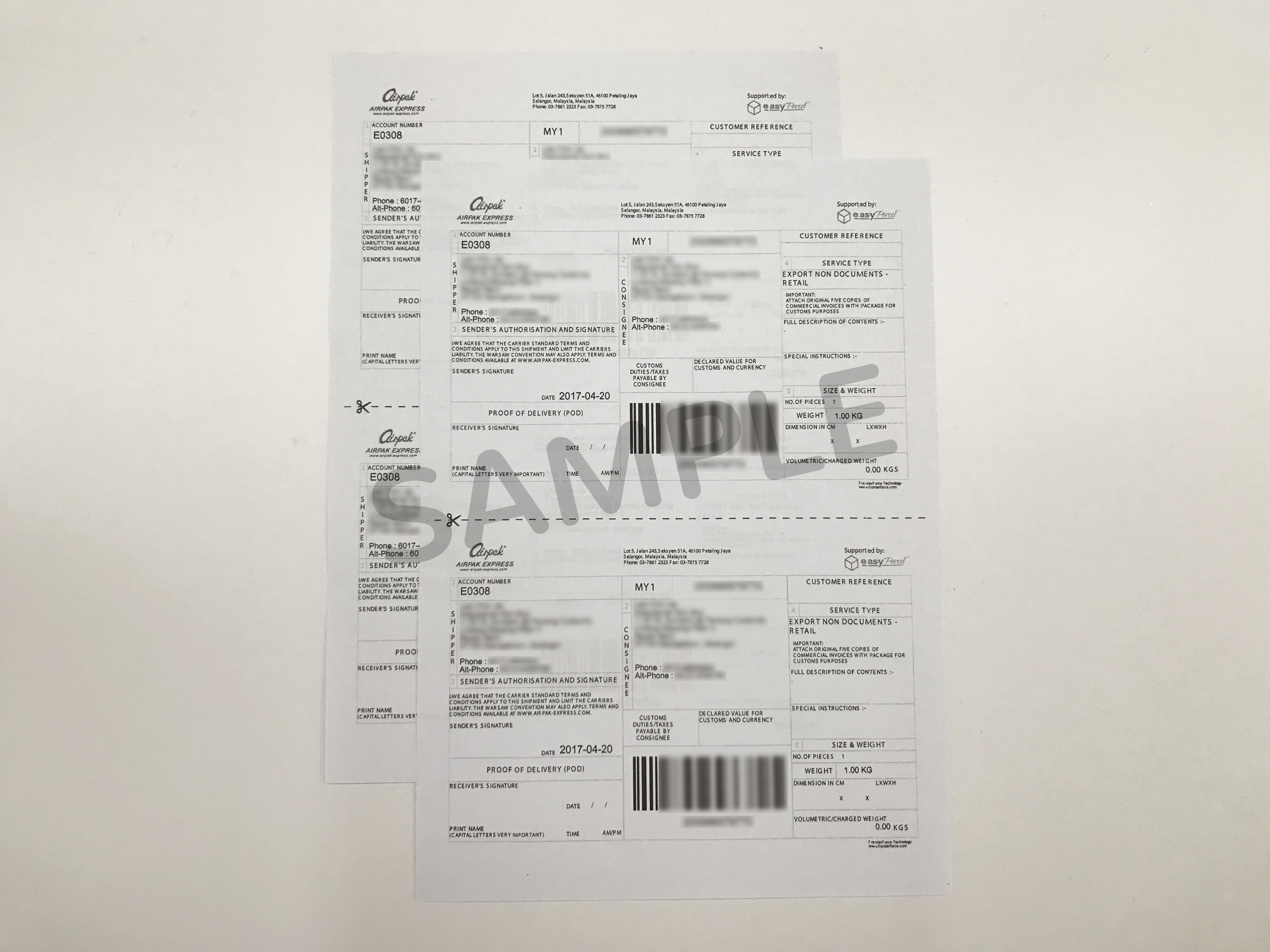 How To Attach The Air Waybill After Printing It Out? - EasyParcel